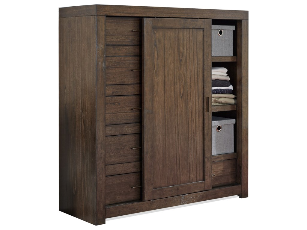 Aspenhome Modern LoftSliding Door Chest