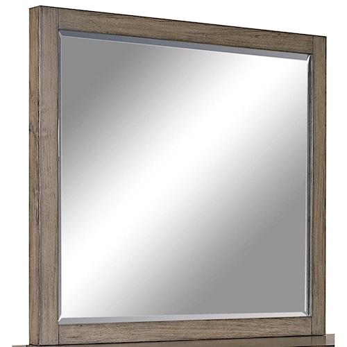Aspenhome Modern Loft Mirror with Beveled Glass
