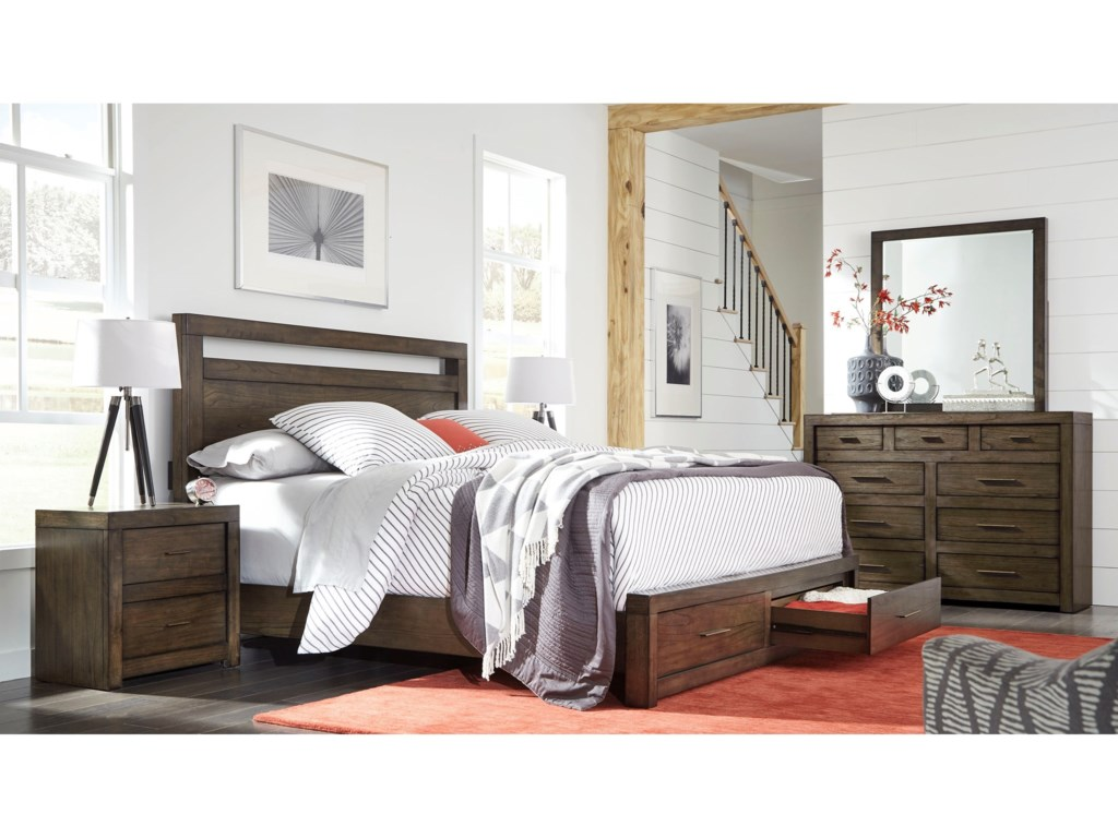 Aspenhome Modern LoftQueen Bedroom Group