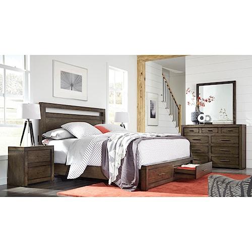 Aspenhome Modern Loft King Bedroom Group