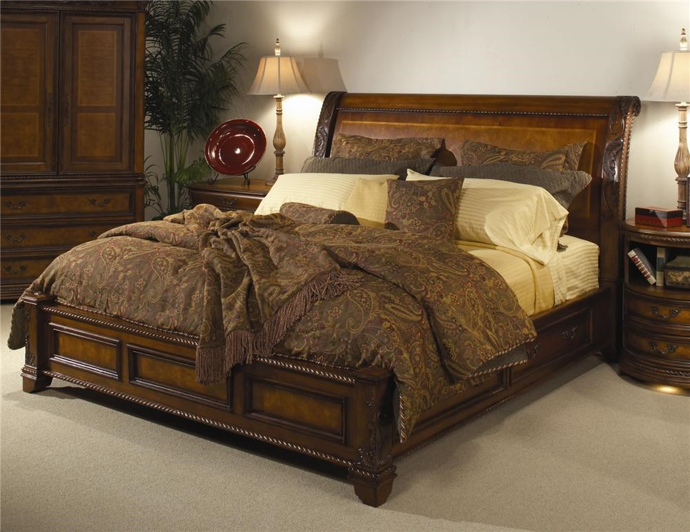 Aspenhome (Clackamas Store Only) Napa King Size Bed With Sleigh Headboard U0026  Storage