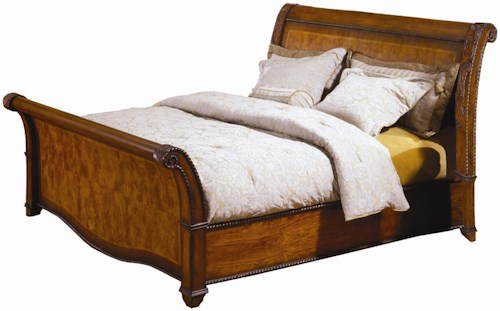 Aspenhome (Clackamas Store Only) Napa  Queen-Size Sleigh Bed with High Profile Footboard