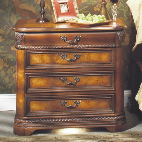 Aspenhome Napa  Liv360 Nightstand with Pullout Tray