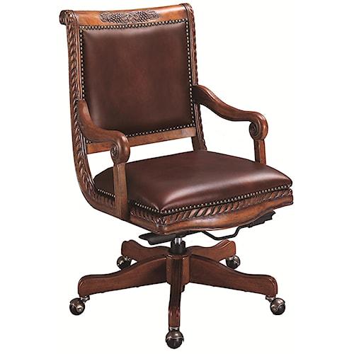 Aspenhome Napa Leather Office Chair. Aspenhome Napa Leather Office Chair   Wayside Furniture   Office