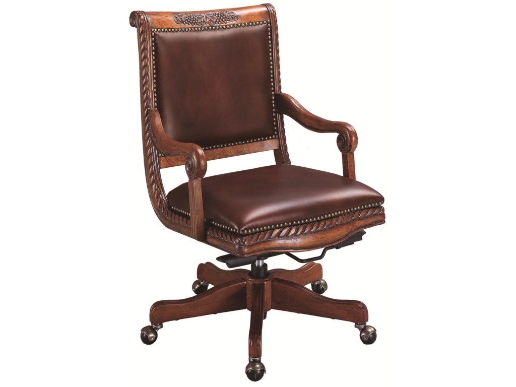 Tan leather office chair - An Error Occurred