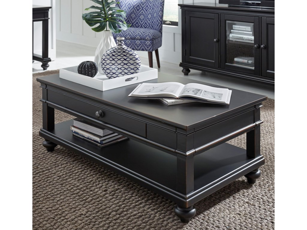 Aspenhome OxfordCocktail Table with Casters