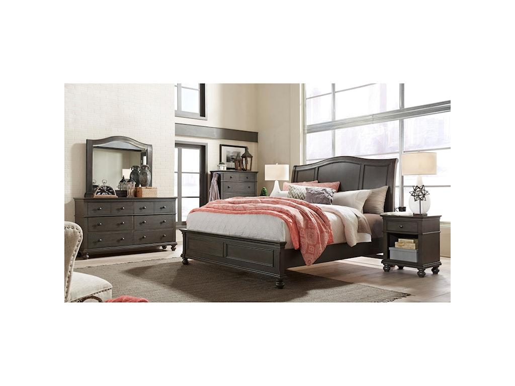 Aspenhome OxfordQueen Sleigh Bed