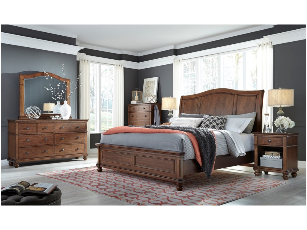 Aspenhome OxfordKing Sleigh Bed