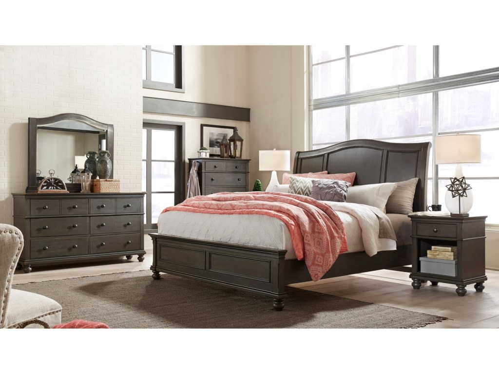 Aspenhome OxfordCal King Sleigh Bed