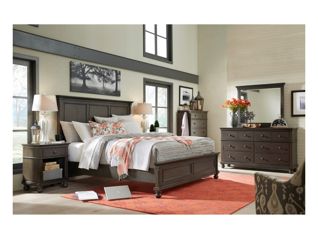 Aspenhome OxfordQueen Panel Bed