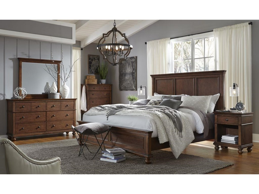 Oxford 4-Piece Queen Bedroom Set by Hills of Aspen at Ruby Gordon Home