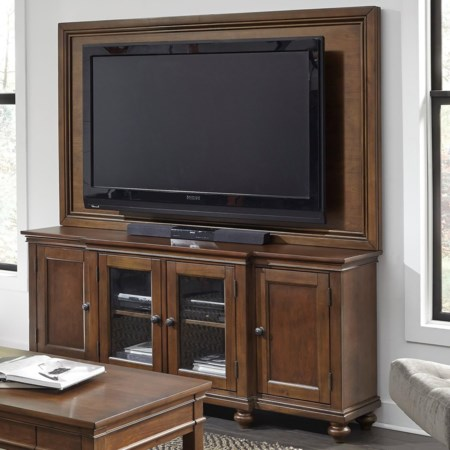 """75"""" Media Console and TV Backer"""