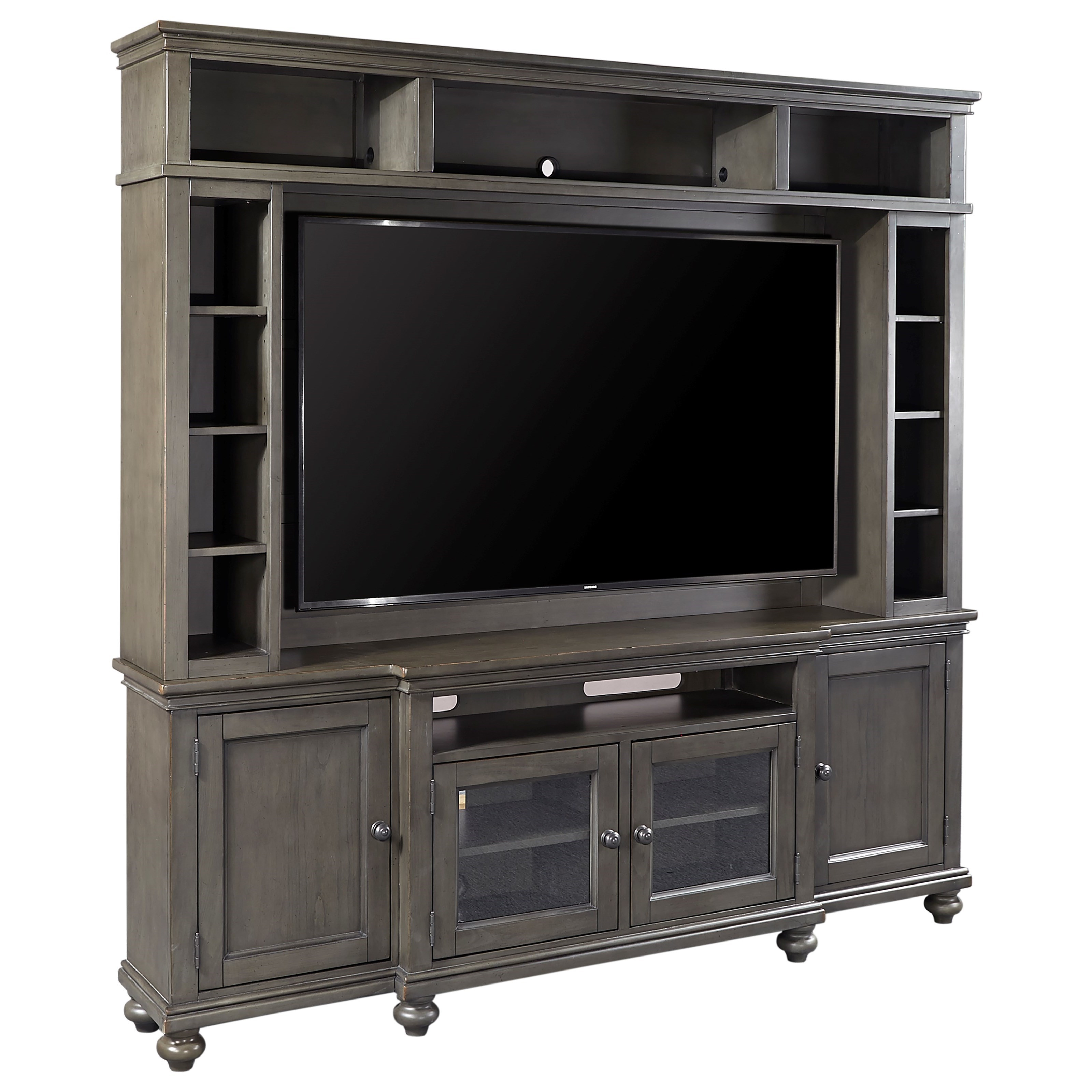"""86"""" Console and Hutch with Sound Bar Compartment"""