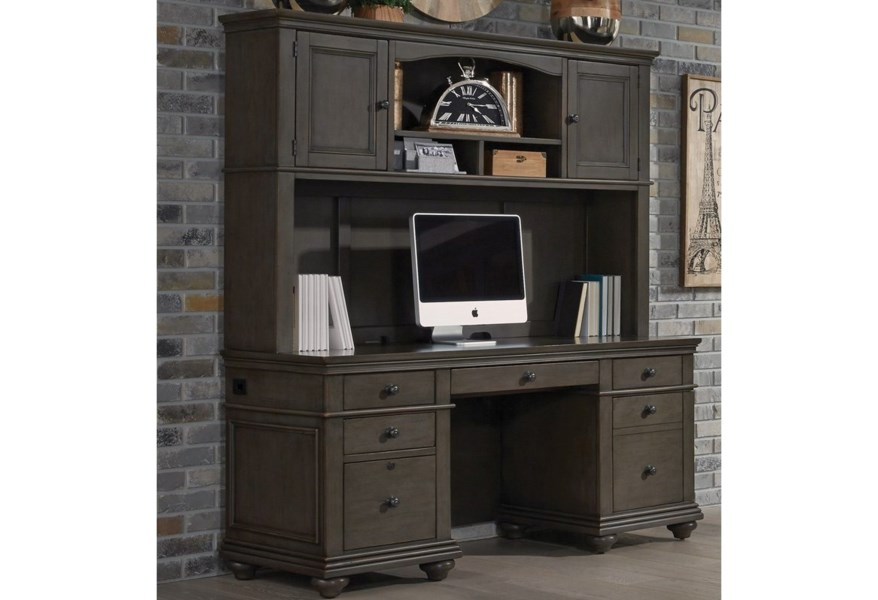 Aspenhome Oxford Credenza And Hutch Furniture Mart Colorado