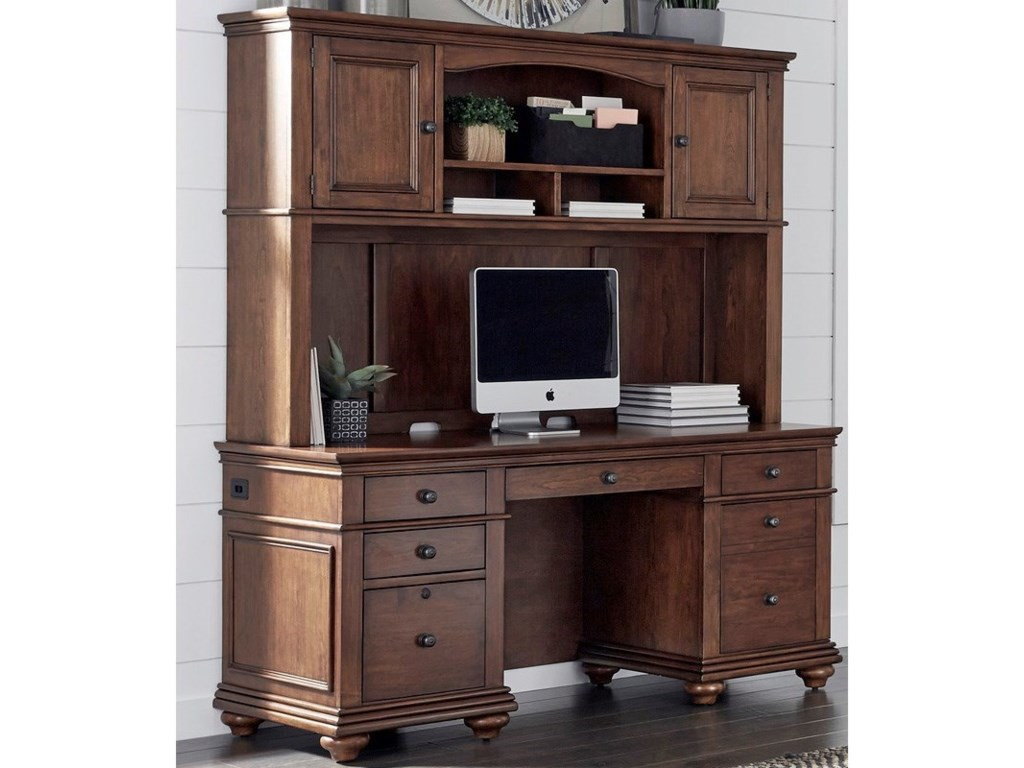Aspenhome OxfordCredenza and Hutch