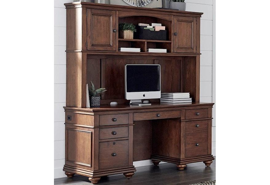 Aspenhome Oxford Credenza And Hutch Hudson S Furniture Desk
