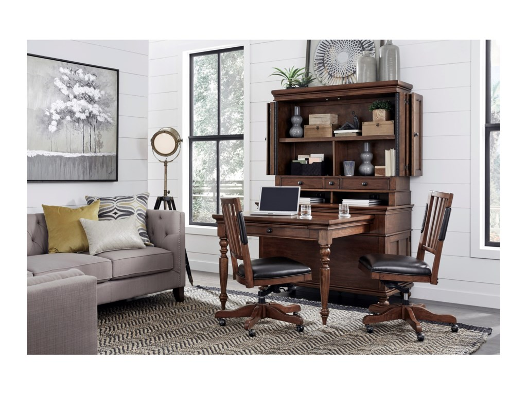 Aspenhome OxfordDesk and Hutch