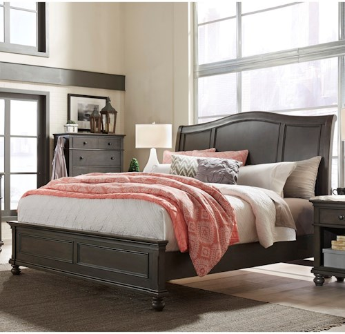 Aspenhome (Clackamas Store Only) Oxford Transitional Queen Sleigh Bed with USB Ports