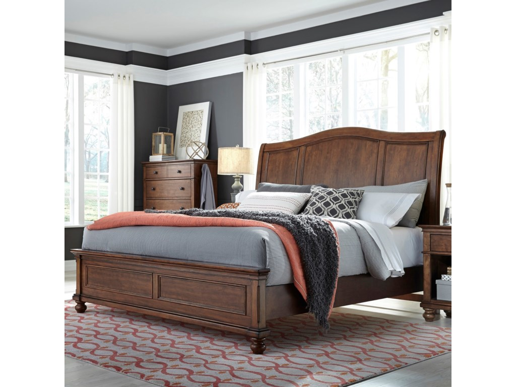Aspenhome CharlesQueen Sleigh Platforn Bed