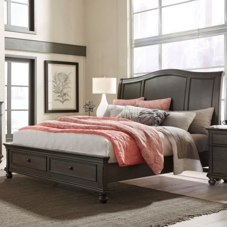 Oakford Queen Sleigh Storage Bed