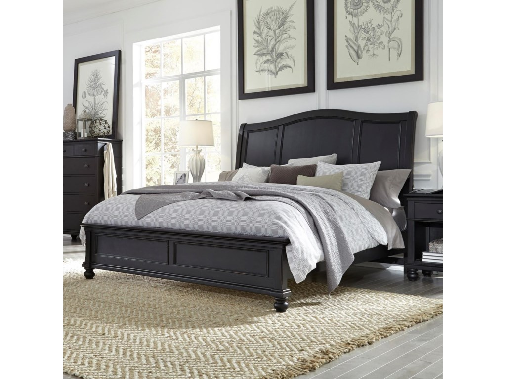 Highland Court OakfordKing Sleigh Bed