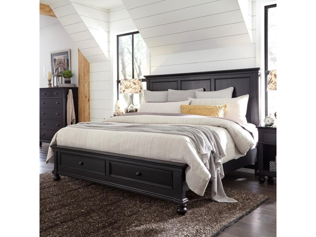 Aspenhome OxfordQueen Panel Storage Bed