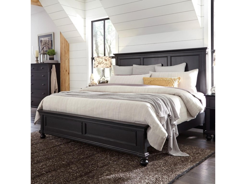 highland court oakfordoakford king panel bed - King Panel Bed