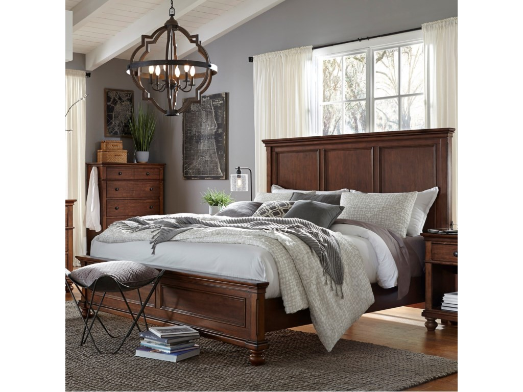 Aspenhome OxfordKing Panel Bed