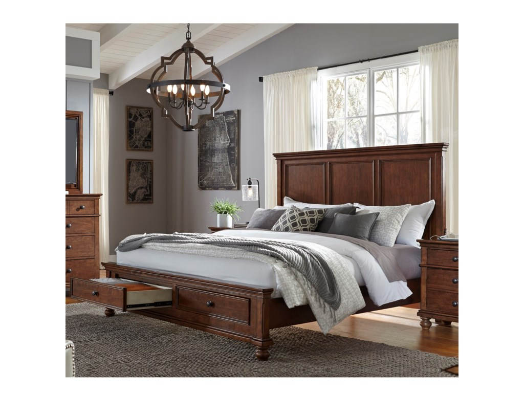 Aspenhome OxfordKing Storage Bed