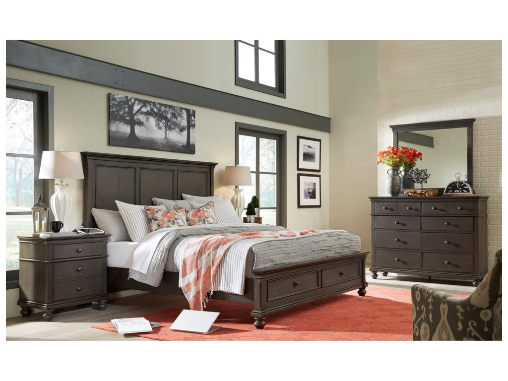 Aspenhome OxfordCal King Storage Bed