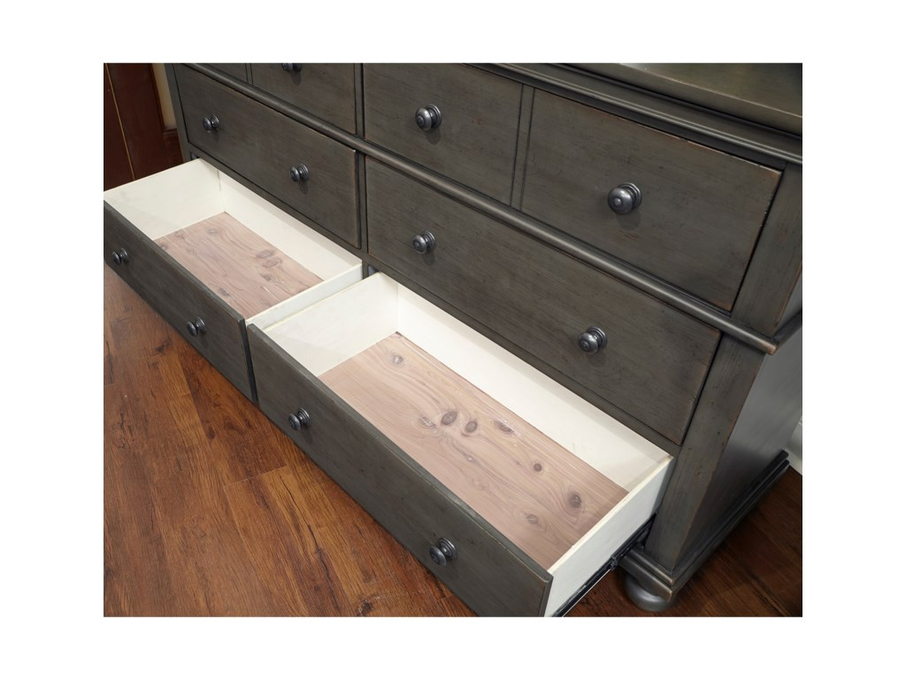 Aspenhome OxfordDresser with Mirror