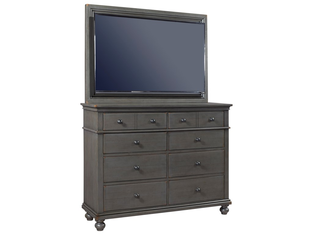 Aspenhome OxfordMedia Chest with TV Mount