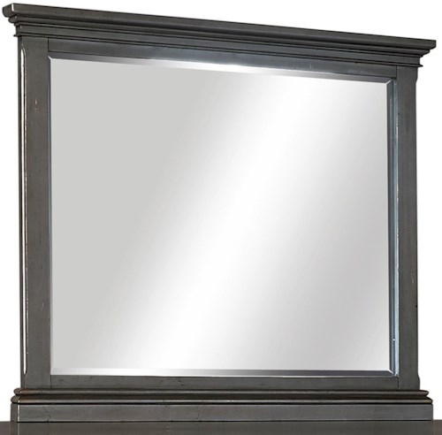 Aspenhome Oxford Transitional Landscape Mirror with Beveled Glass