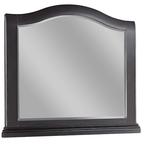Aspenhome Oxford Transitional Landscape Mirror with Arched Design
