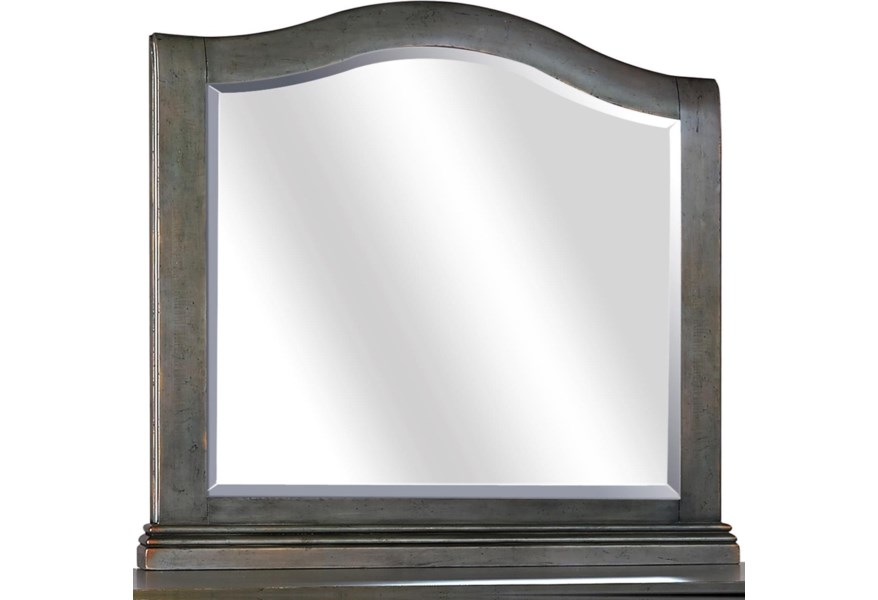 Aspenhome Oxford I07 463 Pep Transitional Landscape Mirror With Arched Design Gill Brothers Furniture Dresser Mirrors