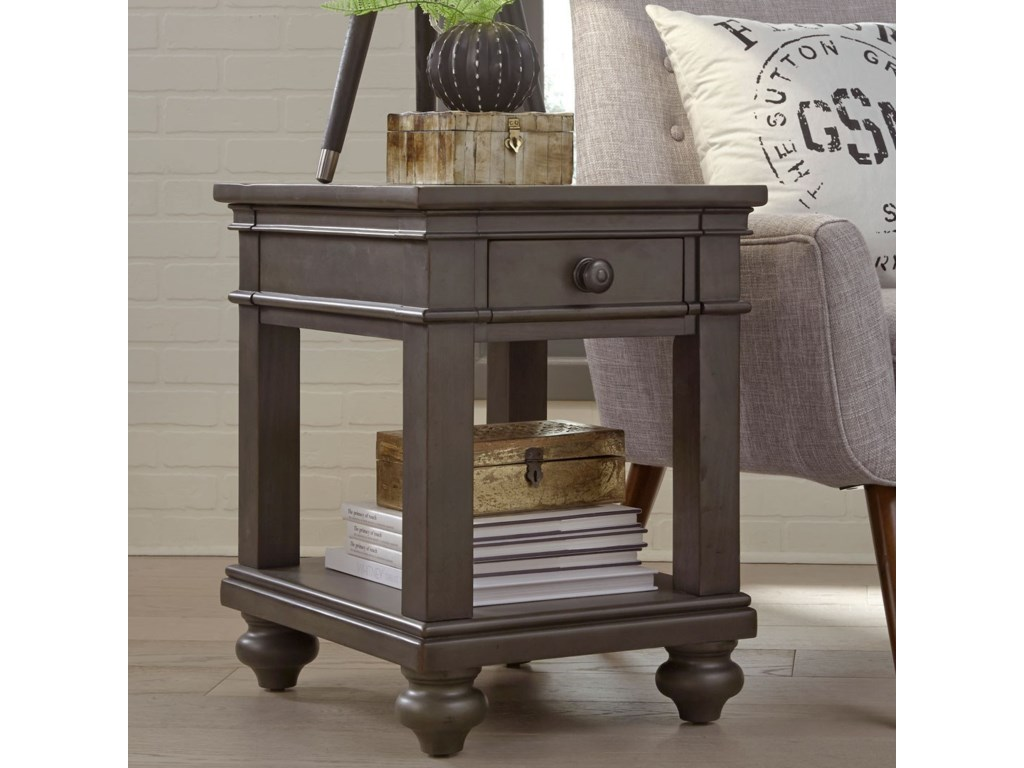 Aspenhome OxfordChairside Table