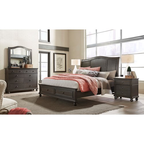 B705 58 Ck Ashley Furniture California King Sleigh Bed: Aspenhome Oxford California King Bedroom Group