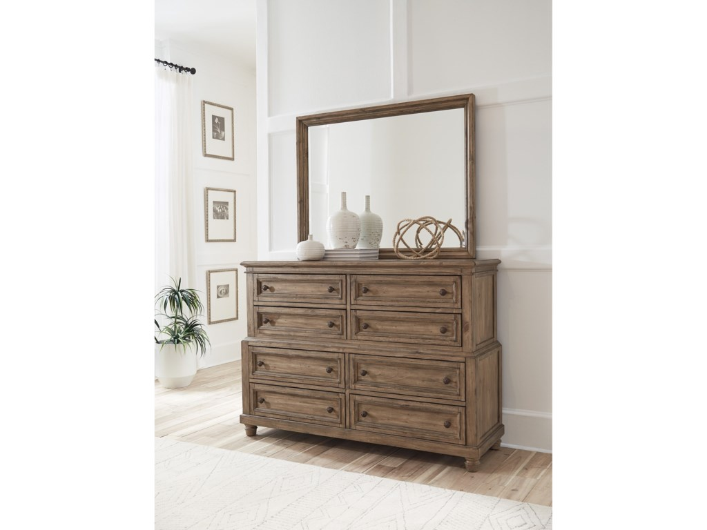 Aspenhome ParkwoodChesser and Mirror Combination