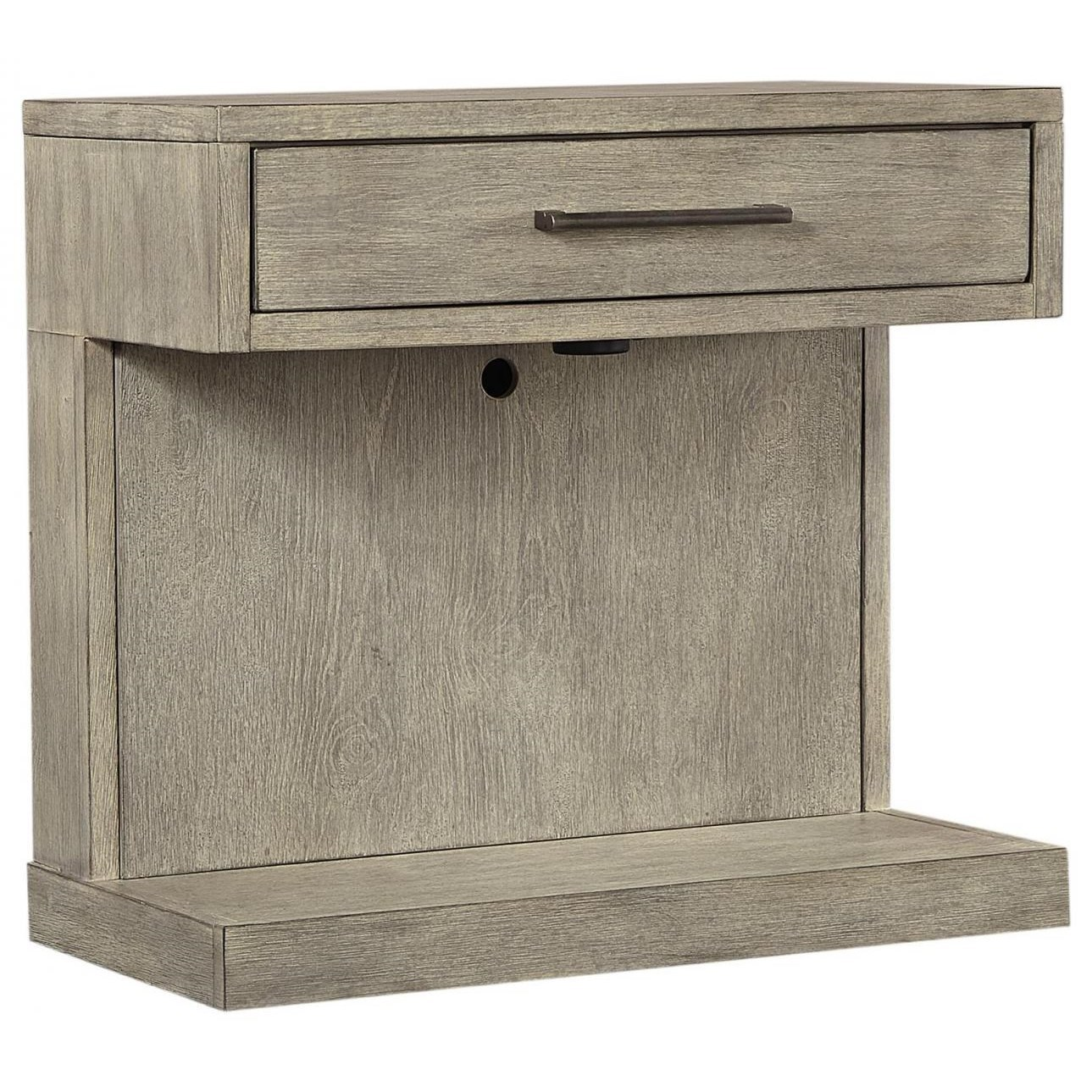 Contemporary Nightstand with 3-Way Touch Lighting