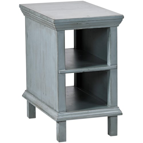 Aspenhome Preferences Chairside Table with 2 Shelves