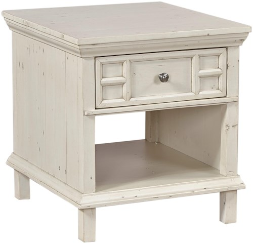 Aspenhome (Clackamas Store Only) Preferences End Table with Drawer and Shelf