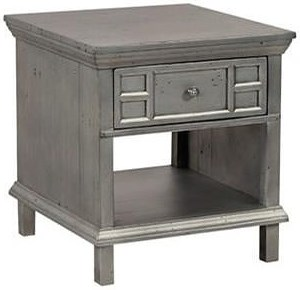 Aspenhome Preferences End Table with Drawer and Shelf