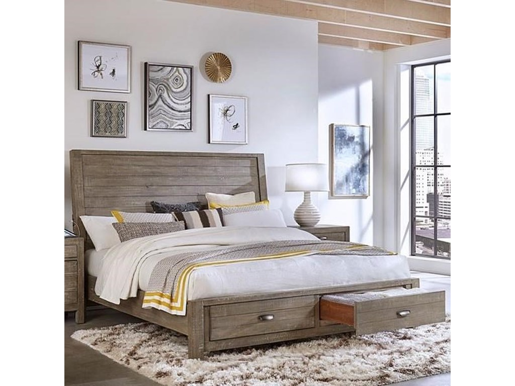 Aspenhome RadiataKing Sleigh Storage Bed