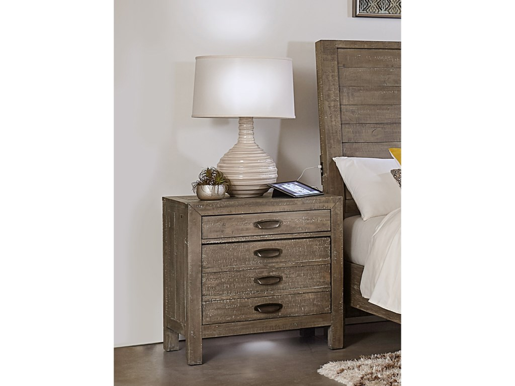 Aspenhome Hampton2 Drawer Nightstand