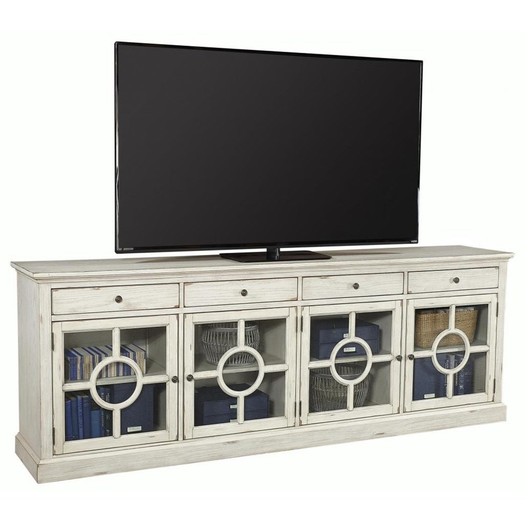"""96"""" Cottage Style TV Stand with Storage"""