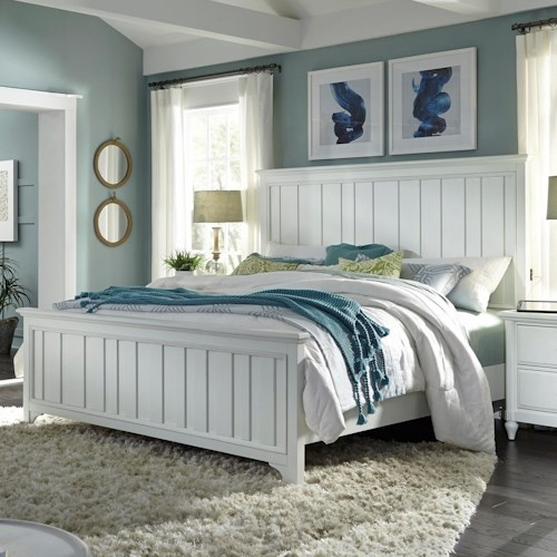Aspenhome Retreat Queen Farmhouse Panel Bed with USB Charging Ports