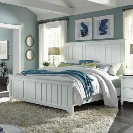King Farmhouse Panel Bed