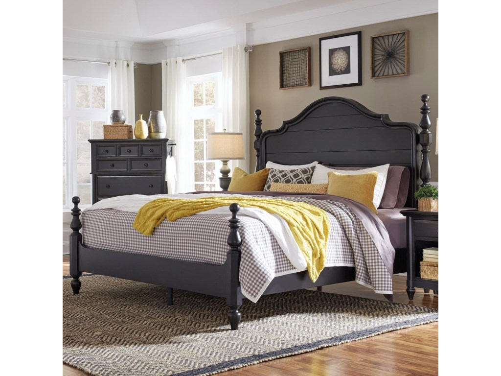 Highland Court RockFalls Queen Poster Bed with USB Charging Ports ...
