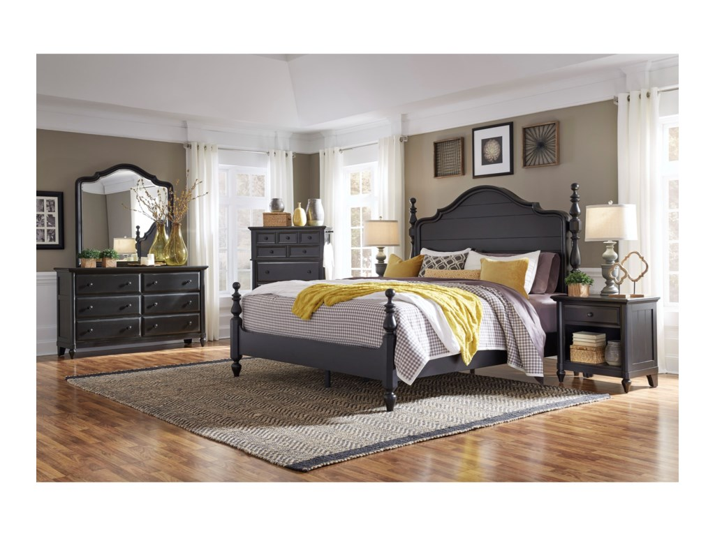 Aspenhome RetreatCalifornia King Poster Bed