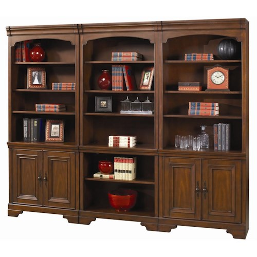 Aspenhome richmond large bookcase wall belfort furniture bookcase 2 pc with hutch - Small bookcases for small spaces design ...